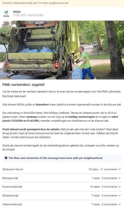 afvalverwerker MIWA sensibiliseert over wat niet in de PMD-zak hoort