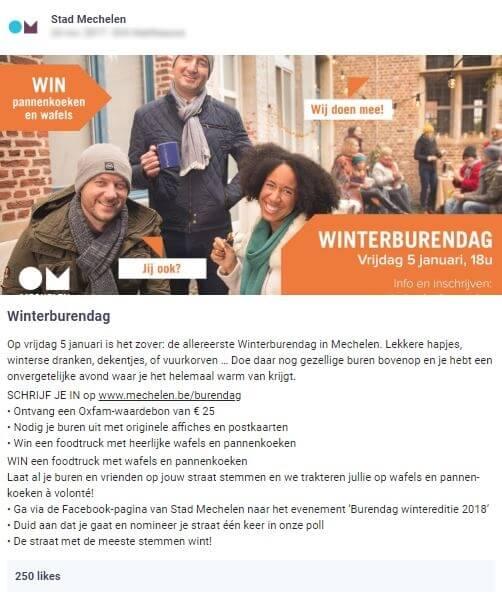 Stad Mechelen organiseert een evenement: winterburendag