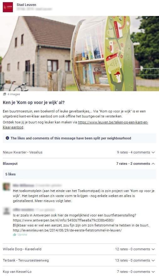stad Leuven reikt verschillende mogelijkheden aan waarop burgers kunnen bijdragen aan een leukere buurt