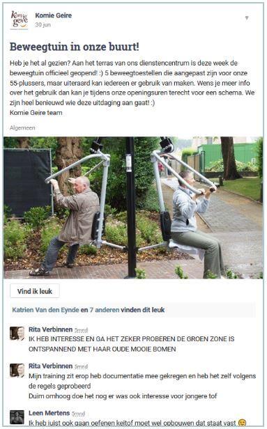 dienstencentrum Olen nodigt oudere bewoners uit om de speeltuin uit te proberen