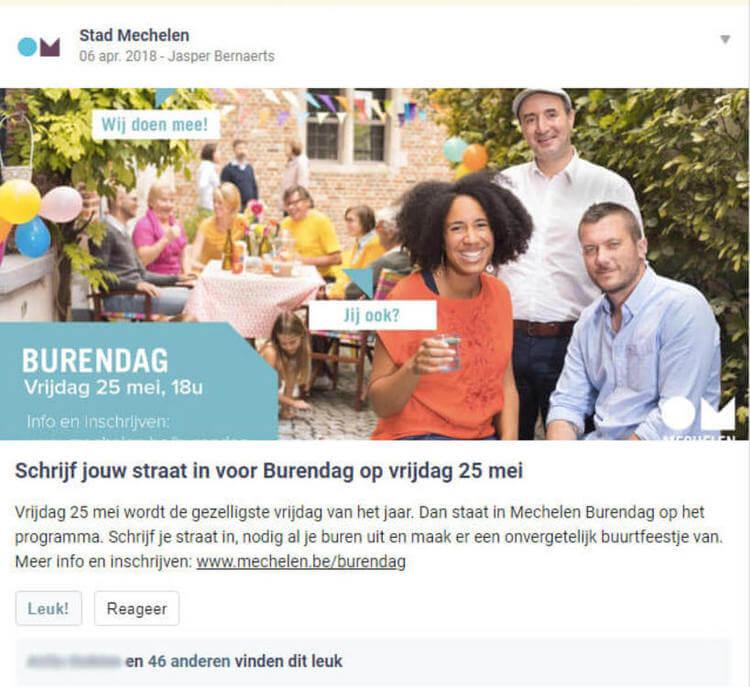 buurtbericht op Hoplr door Stad Mechelen