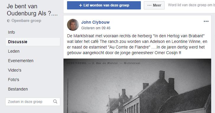 Facebook groep 'je bent van Oudenburg als'