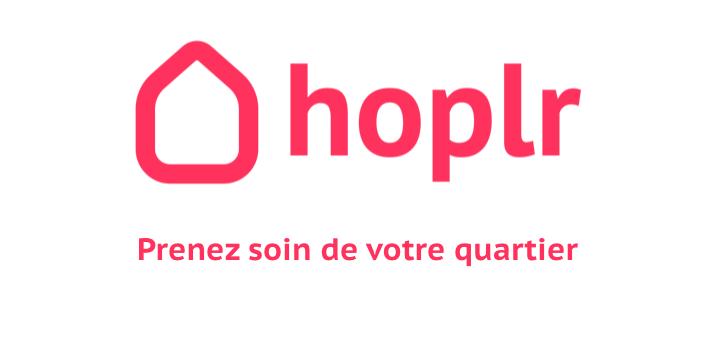 Logo de Hoplr: prenez soins de vos voisins